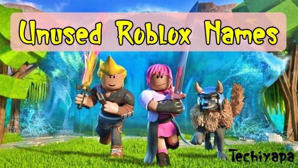 Untaken Roblox Usernames