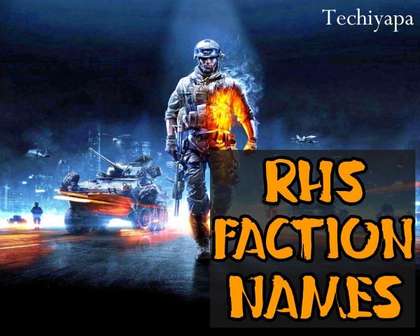 RHS Faction Names