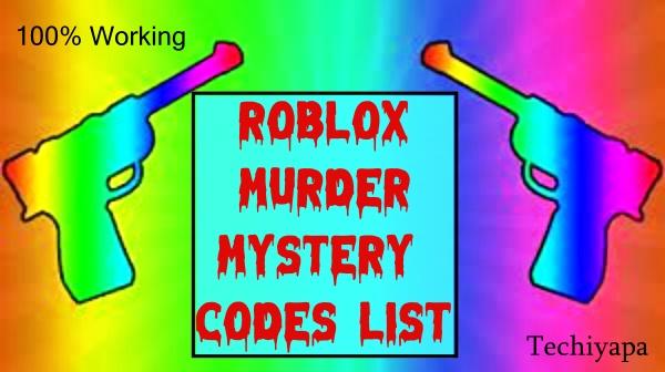 Roblox Murder Mystery Code list