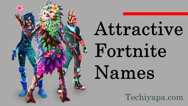 Attractive Fortnite Names