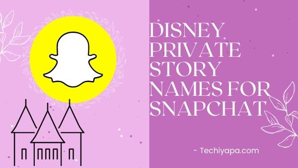 Disney Private Story Names for Snapchat