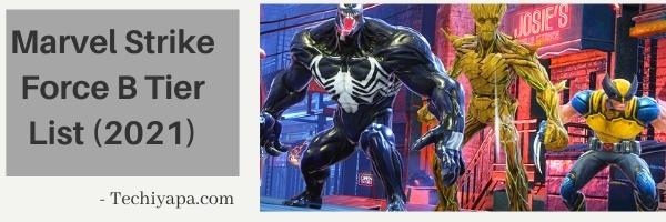 Marvel Strike Force B Tier List (2021)