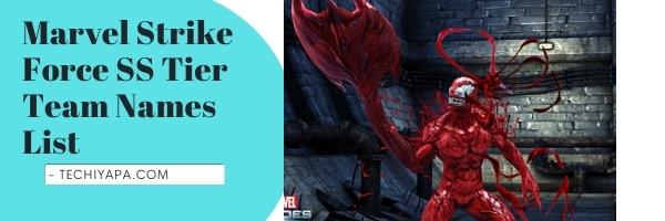 Marvel Strike Force SS Tier Team Names List (2021)