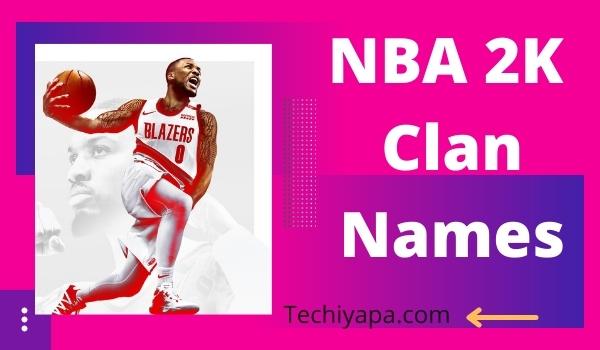 NBA 2k Clan Names