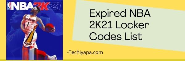 Expired NBA 2K21 Locker Codes List